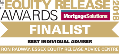 The Equity Release Awards 2018. Finalist Best Individual Adviser